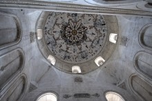 Ishak Pasha Palace - dome of the mosque from the inside