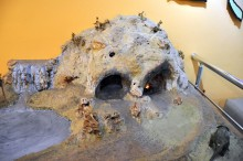 The miniature model of Karain Cave in the Archaeological Museum in Antalya