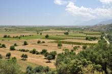 The plain below the slopes of Sam Dağı mountain