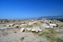 Corinthian Temple and North Basilica in Laodicea on the Lycus