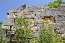 Fortification walls in Olba