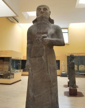 Statue of Neo-Assyrian king King Shalmaneser III who campaigned against Urartu, now in Istanbul Archaeology Museums