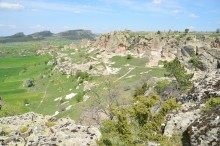 The view from Yazılıkaya Acropolis