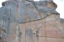 Yazılıkaya -  Midas Monument - the Phrygian inscription detail