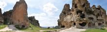 The panoramic view of the Midas Monument and Kırkgöz Kayalıkları