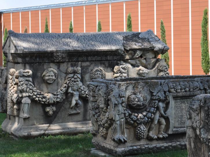 Sarcophagi exhibition at Aphrodisias