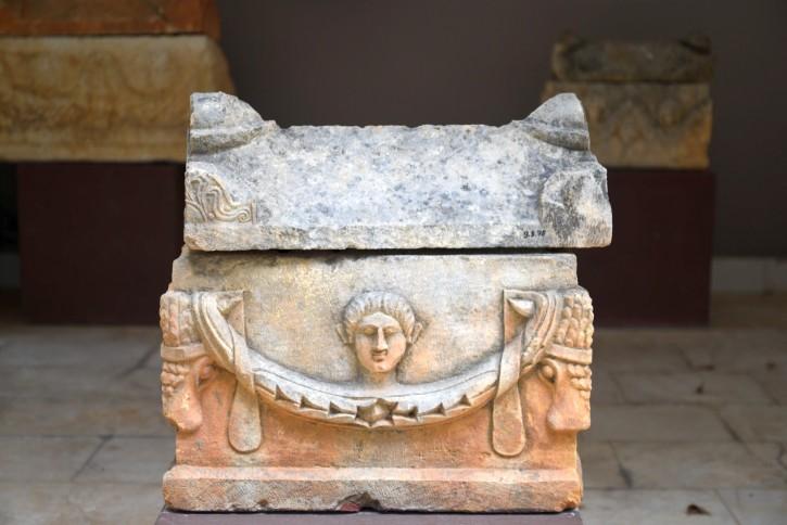 Roman-period ossuary in the museum's garden