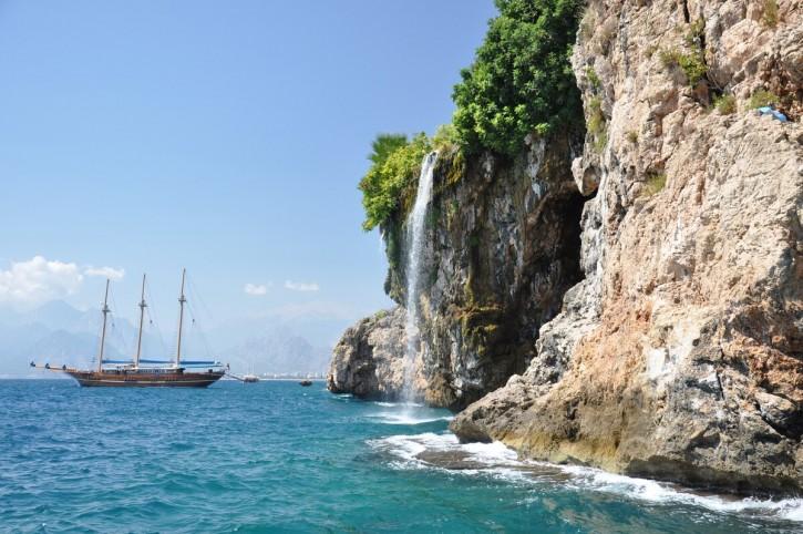 The Mediterranean coast in Antalya Province